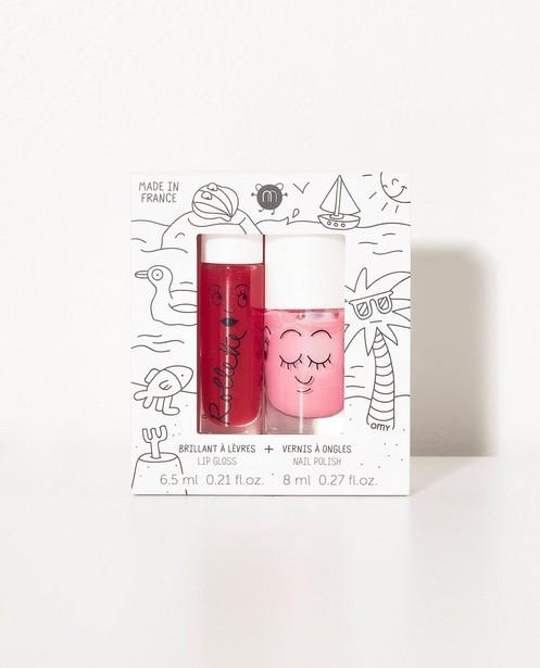 Set: lipgloss + nagelak Nailmatic - felrood en -roze - JBC