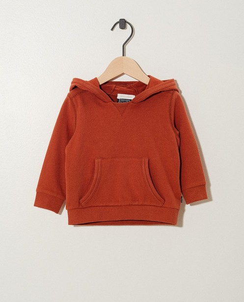 Sweat brun Bumba, coton bio - hoodie - Bumba