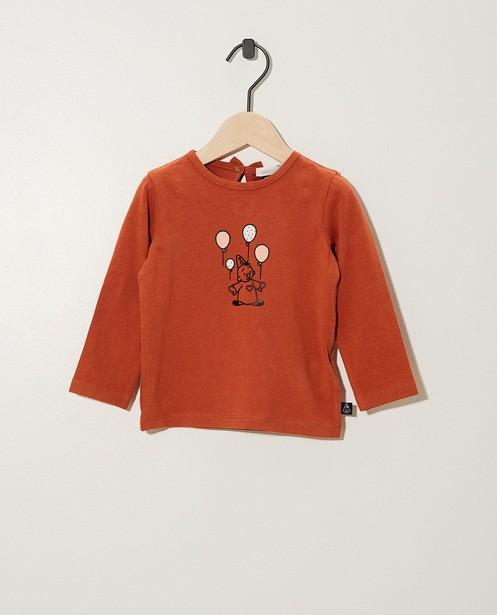 T-shirt à manches longues Bumba - coton bio, imprimé - Bumba