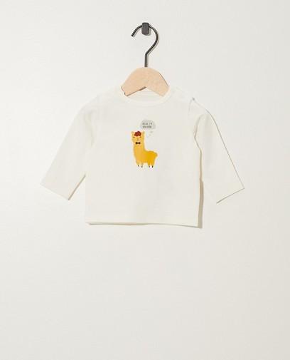 T-shirt blanc à manches longues