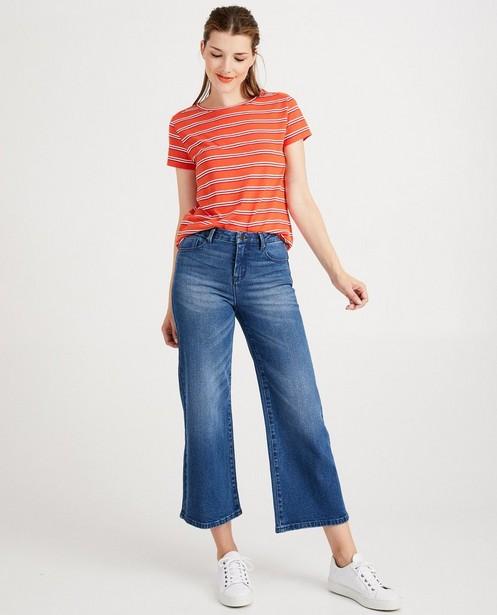 Blauwe culotte van jeans Youh! - met wassing - Sora