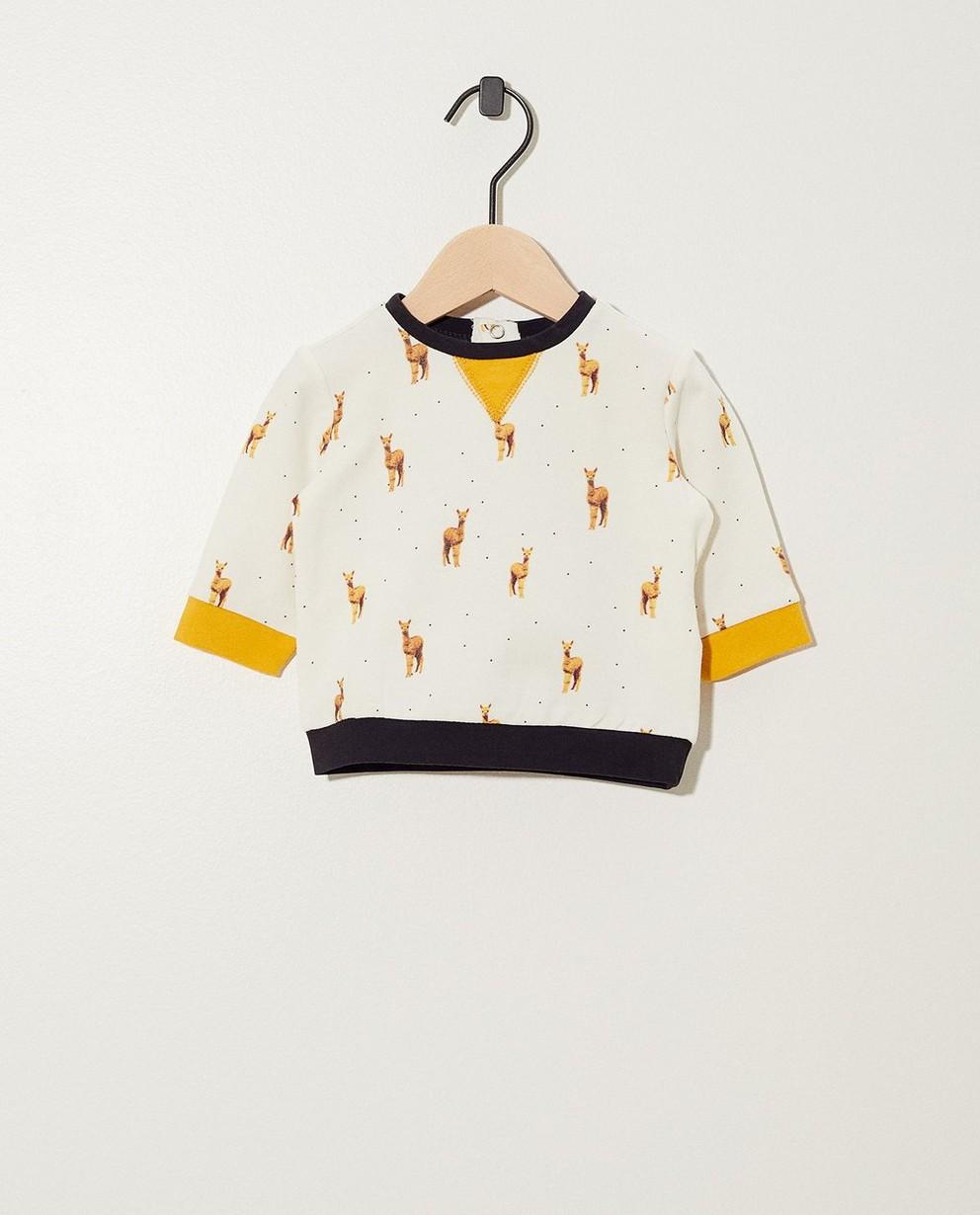 Sweater van biokatoen met print - allover - Newborn