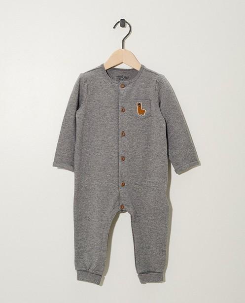 Jumpsuit van biokatoen - in grijs - Newborn