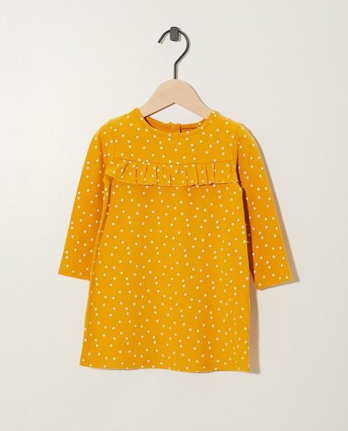 T-shirt jaune à manches longues - à pois - Newborn