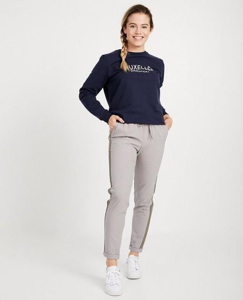 Blauwe broek met streep - aan de zij - Groggy