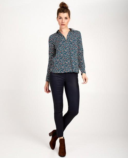 Blauwgroene blouse Sara De Paduwa - met print - padu