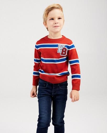 Roter Pullover mit Streifen Hampton Bays