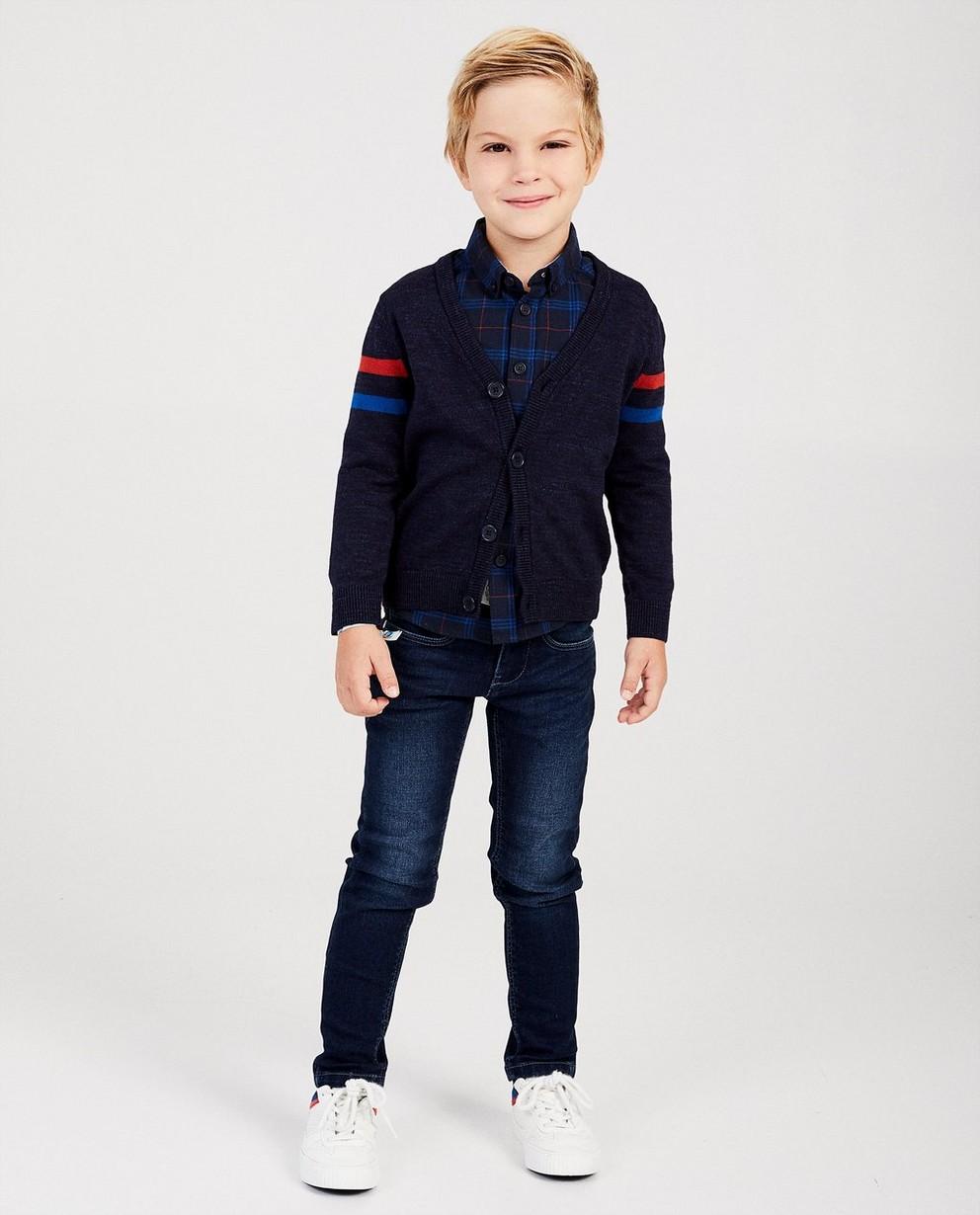 Gilet bleu foncé Hampton Bays - fin tricot - Hampton Bays