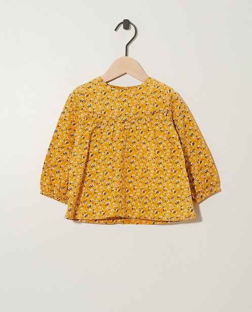 Gele blouse met print BESTies  - van bloemetjes - Besties