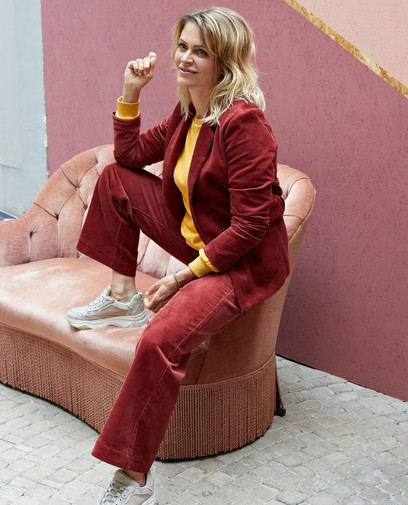 Pantalon rouge foncé Karen Damen