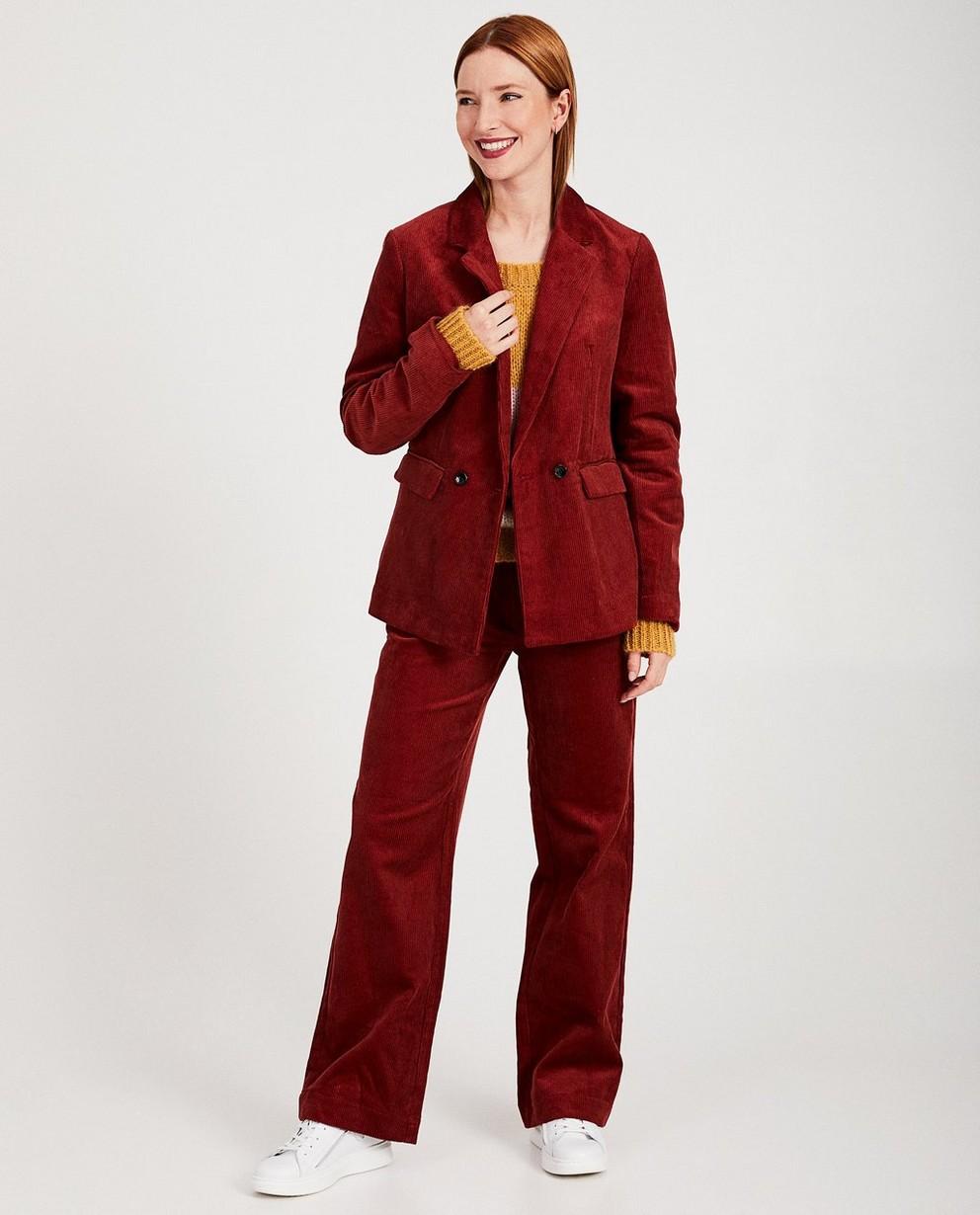 Blazer rouge Karen Damen - velours côtelé - Karen Damen