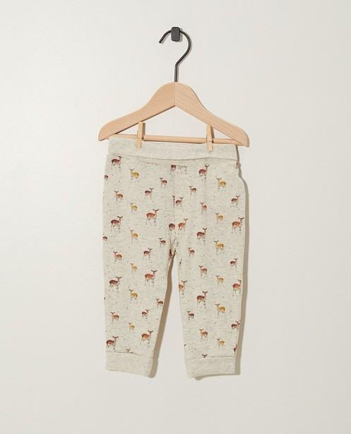 Pantalon évolutif en coton bio - imprimé - Newborn