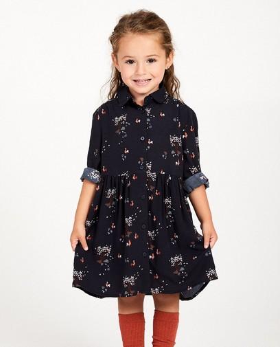 Blauw jurk met print Kaatje
