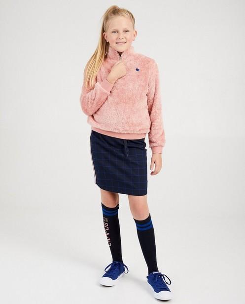 Pluizige roze sweater Campus 12 - met rits - Campus 12