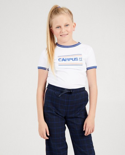 Wit T-shirt met print Campus 12