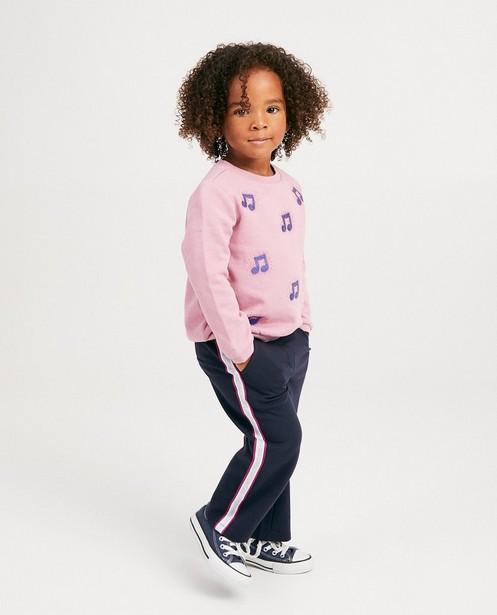 Pantalon bleu, rayures K3 - pantalon de jogging - K3