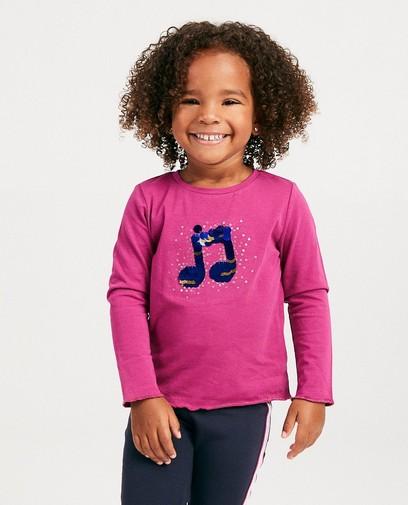T-shirt rose à manches longues K3