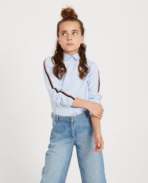 Chemises - Chemisier bleu clair, rayures