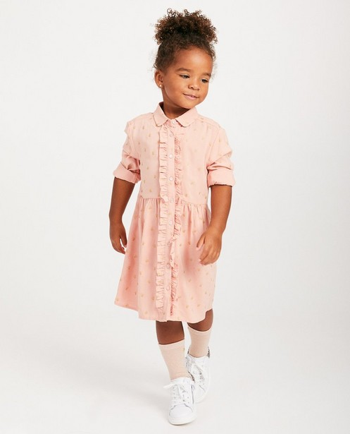 Roze jurk met print Prinsessia - allover - Prinsessia