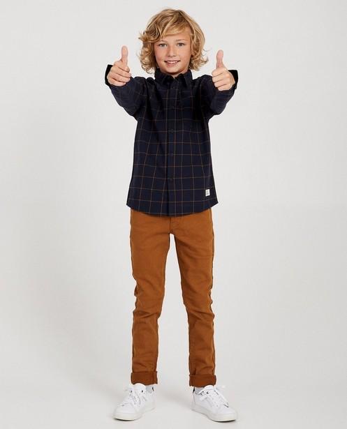 Chemise à carreaux, 7-14 ans - bleu foncé - JBC