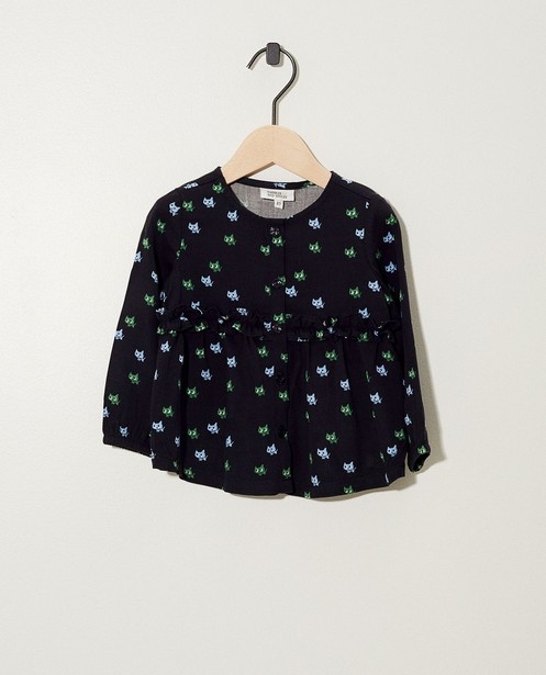 Blouse anthracite - petits chats - JBC