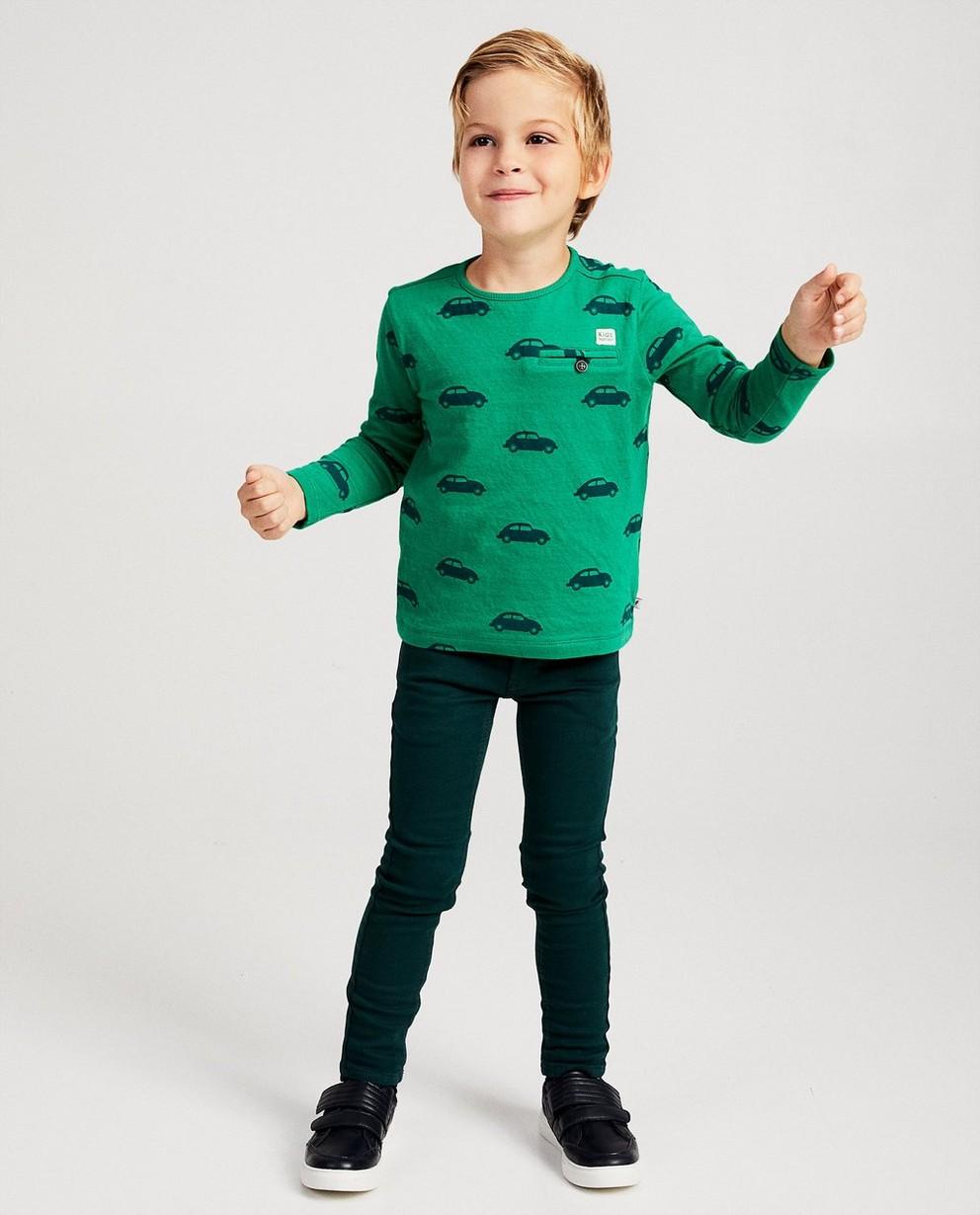 Donkergroene skinny JOEY, 2-7 jaar - green streets - JBC