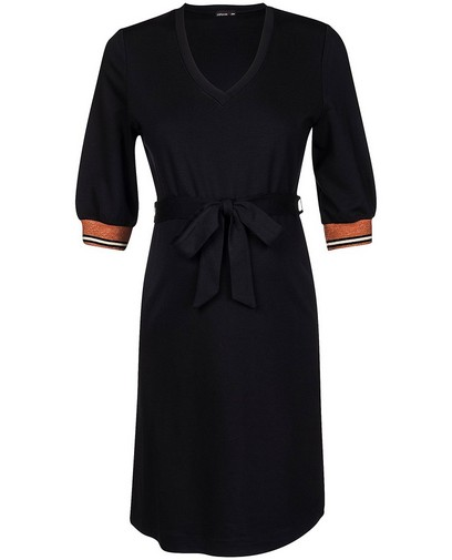 Zwarte jurk met V-hals JoliRonde