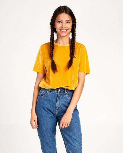 T-shirt à relief côtelé