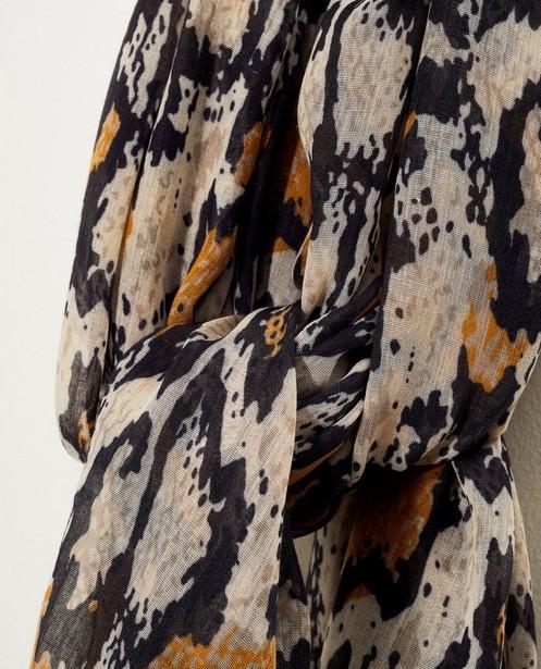Bonneterie - assortment - Écharpe grise à imprimé