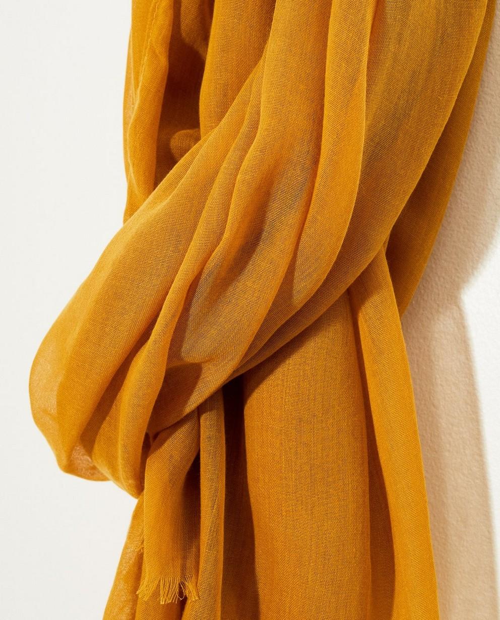 Breigoed - GLM - Gele sjaal met rafels
