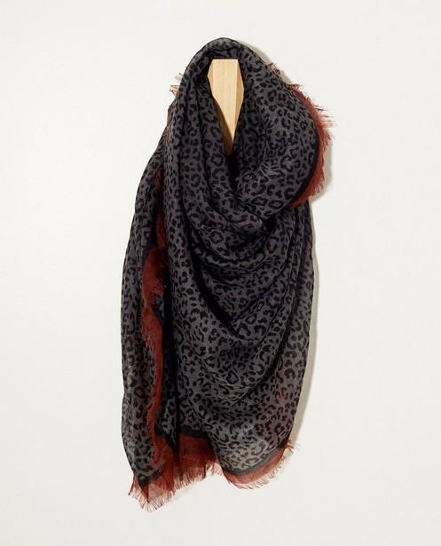 Grijze sjaal met jaguarprint - allover - JBC