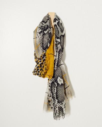 Grijze sjaal met slangenprint