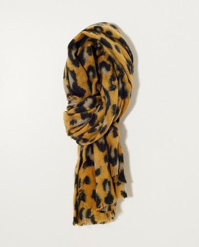 Gele sjaal met vlekkenprint
