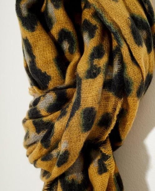 Breigoed - GLM - Gele sjaal met vlekkenprint