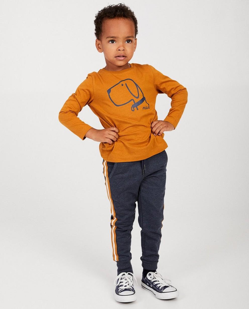 T-shirt cognac à manches longues - BESTies, imprimé - Besties