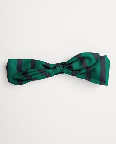 Groen haarbandje met strik