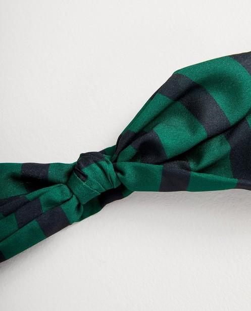 Breigoed - GNM - Groen haarbandje met strik