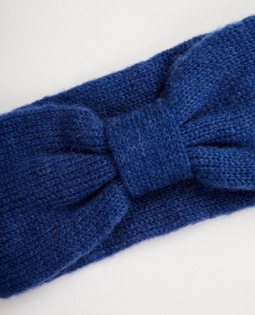 Strickware - Türkis - Kobaltblaues Stirnband