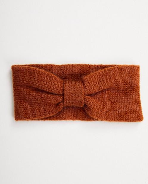 Bruine hoofdband - van fijne brei - JBC NL