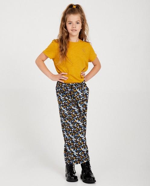 T-shirt jaune en coton bio I AM - coton bio flammé - I AM
