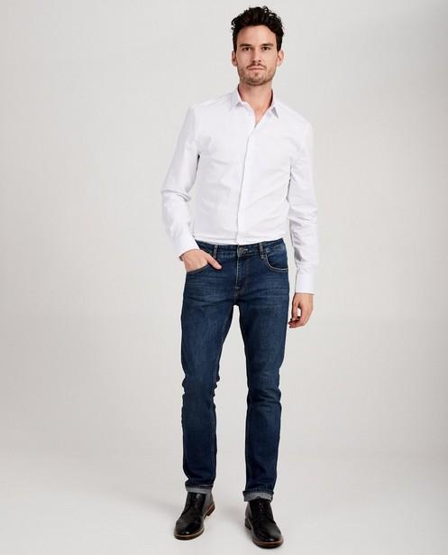 Donkerblauw hemd - slim fit - JBC