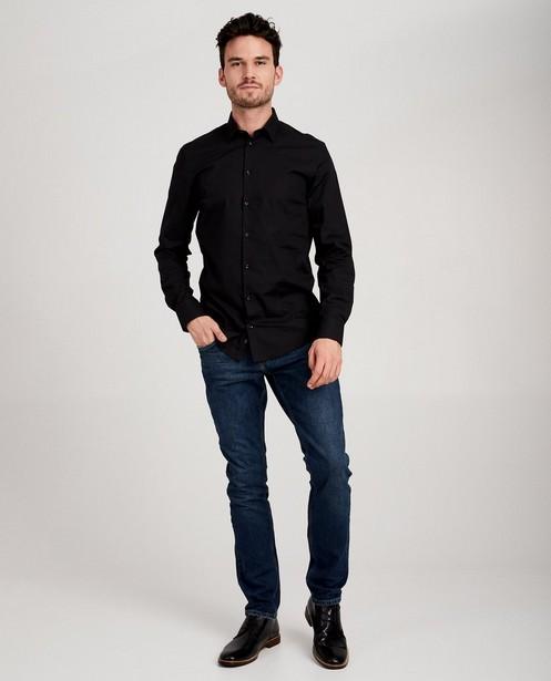 Donkerblauw hemd - slim fit - JBC NL