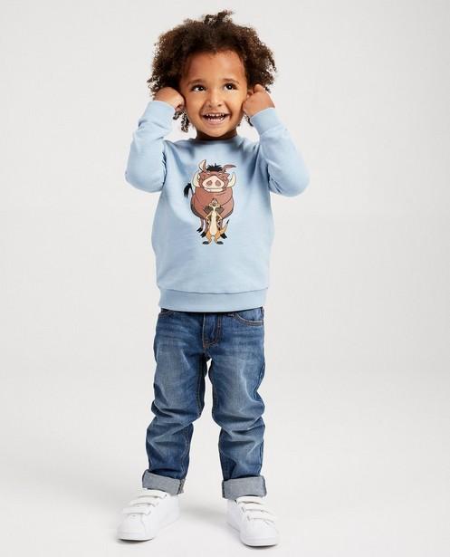 Donkerblauwe sweater Disney - met print - Mickey