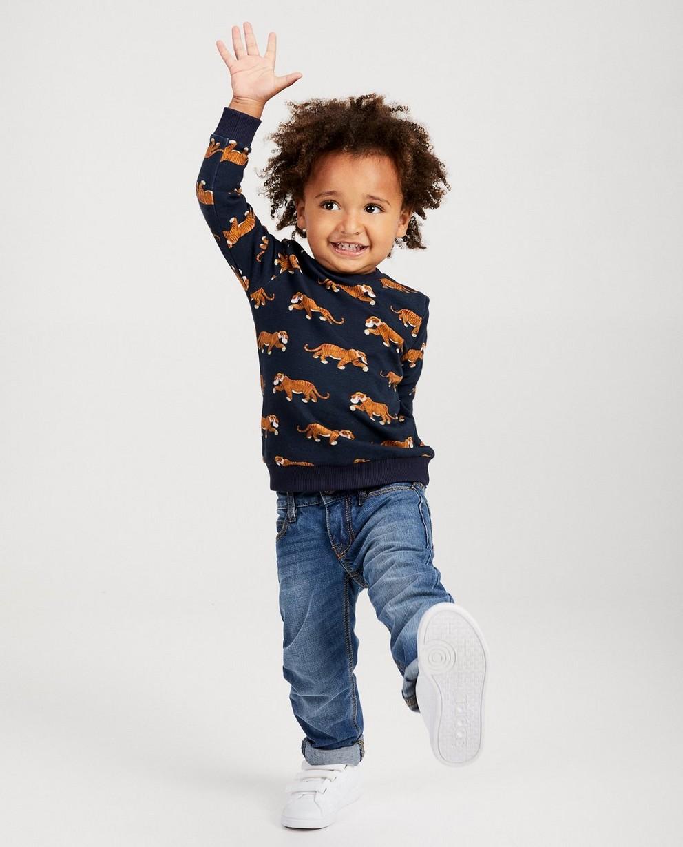 Grijsgroene sweater Disney - met allover print - Mickey