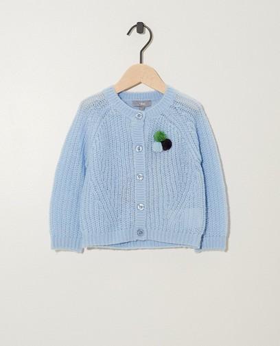 Gilet bleu clair en tricot