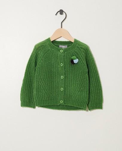 Gilet vert en tricot