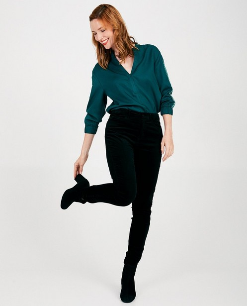 Pantalon noir en velours Sora - skinny - Sora