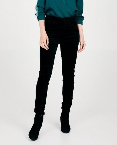 Pantalon noir en velours Sora