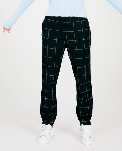 Pantalon noir à carreaux Sora