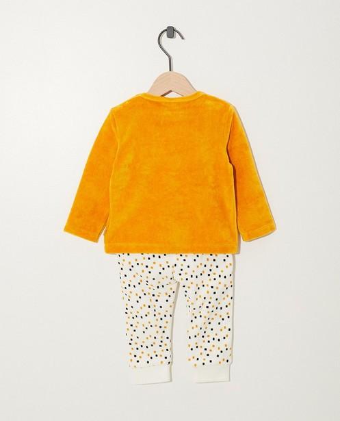 Pyjamas - Pyjama jaune avec un chien
